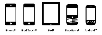 iPhone, iPod Touch, iPad, BlackBerry, Android